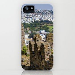 Remnants of an Ancient Stone Wall at Golconda Fort in Hyderabad, India iPhone Case