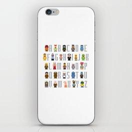 Pixel Muppet Show Alphabet iPhone Skin