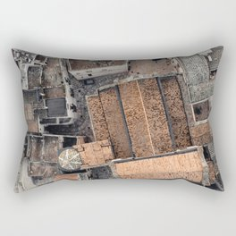 Ostuni, the white city, cathedreal, aerial photography, Puglia, southern Italy Rectangular Pillow