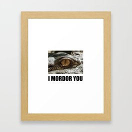 I love lord of the Framed Art Print