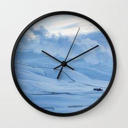 Blue Mornings Wall Clock
