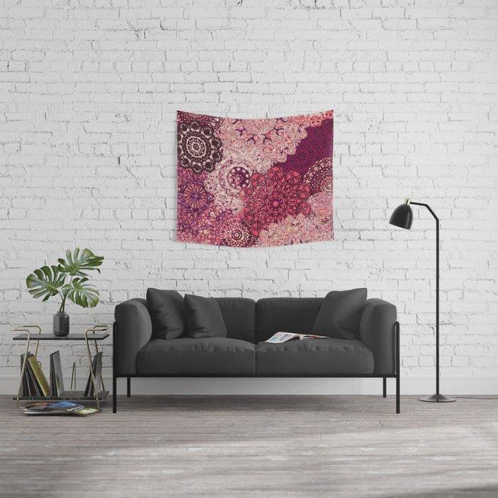 Terra Rose Mandalas Wall Tapestry