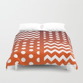 Autumn Gradient/White Chevron/Polkadot Pattern Zigzag Spot Fall Decor #ArtofGaneneK Duvet Cover
