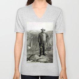 Vintage Theodore Roosevelt Yosemite Unisex V-Neck