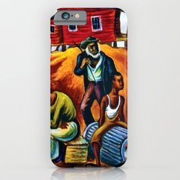 "African American Classical Masterpiece ""Study for the Results of Poor Housing"" by Hale Woodruff iPhone Case"
