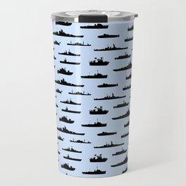 Battleship // Light Blue Travel Mug