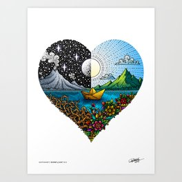 JOURNEY of LOVE - VISOTHKAKVEI Color Art Print