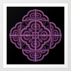 Purple Emblem Art Print