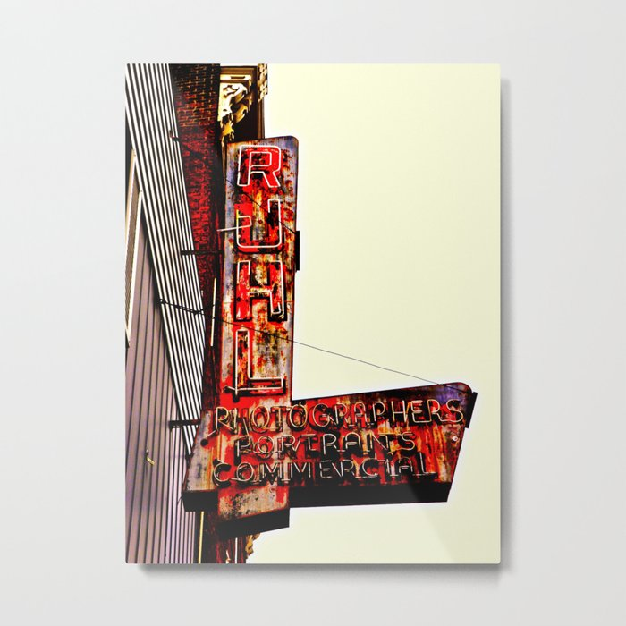 Ruhl's Photography Sign Metal Print