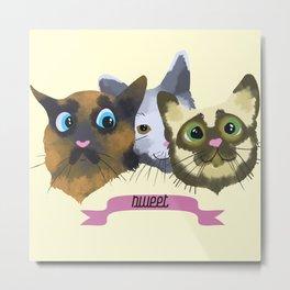 Sweeet Cats Metal Print