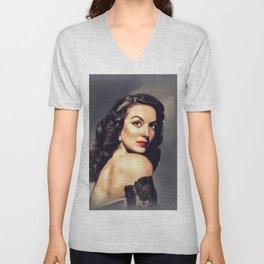 Maria Felix, Vintage Actress Unisex V-Neck