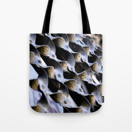 Abstract Metal Weave Pattern Photograph Tote Bag