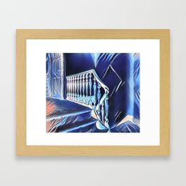Eerie Paranormal Staircase Framed Art Print