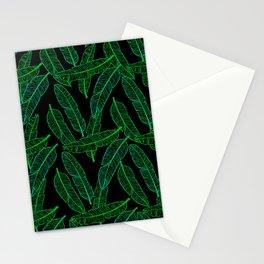Banana Leaf (Black Glow) - Green Stationery Cards