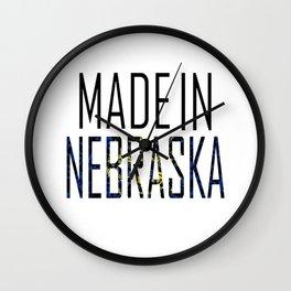 Made In Nebraska Wall Clock