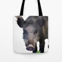 Crazy As A Peach Orchard Boar Vector Tote Bag