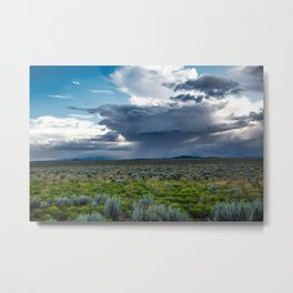 Desert Rain - Summer Thunderstorms Near Taos New Mexico Metal Print