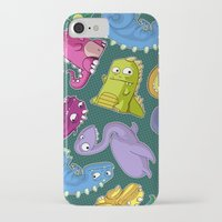 dinosaurs iPhone & iPod Cases featuring Dinosaurs by Fabio Leone