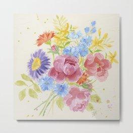 Pretty Bouquet Metal Print