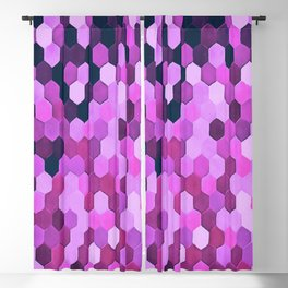 Honeycomb Pattern In Purples and Pinks Blackout Curtain