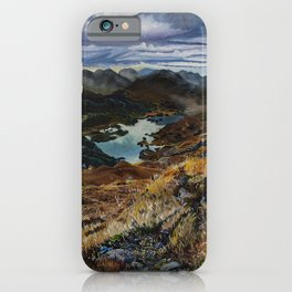 View from Torc Mountain, Killarney National Park, Ireland iPhone Case