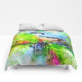 Watercolor Spring Bird Comforters