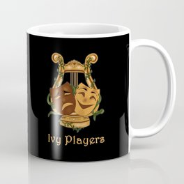 Ivy Players Logo on Black Coffee Mug