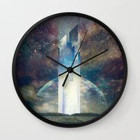 fault Wall Clocks featuring It´s your fault by HappyMelvin