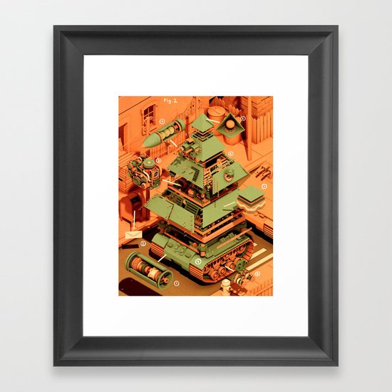 Super Tanklord Anatomy II Framed Art Print