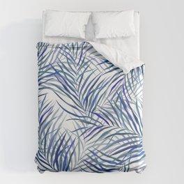 Blue Palms Duvet Cover