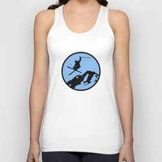 skiing 3 Unisex Tank Top