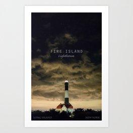 Fire Island Lighthouse - Long Island - New York. Art Print