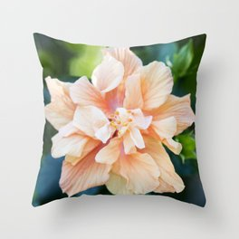 Jane Cowl Tropical Hibiscus Throw Pillow