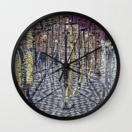 Creases around remnants memorialized emphatically. Wall Clock
