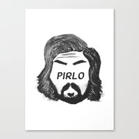 juventus Canvas Prints featuring Pirlo B&W by wearwolves