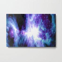 Galaxy : Orion Nebula Violet Purple Teal Blue Metal Print