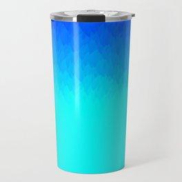 Electric Blue Ombre flames / Light Blue to Dark Blue Travel Mug