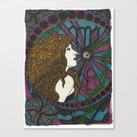 virgo Canvas Prints featuring Virgo by Laura Jean