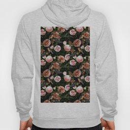 Vintage & Shabby Chic - Blush Camellia & Kingfishers Hoody