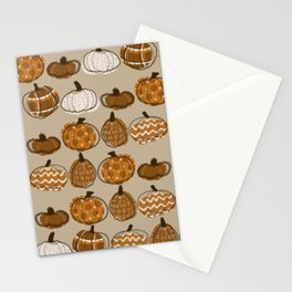 Pumpkin Party in Almond Stationery Cards
