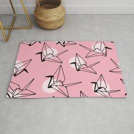Pink Crane Pattern Rug