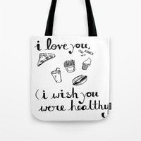 health Tote Bags featuring Health Problems by Handwritten