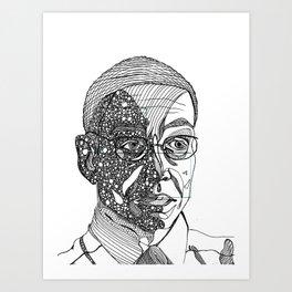 gus fring - breaking bad - abstract Art Print