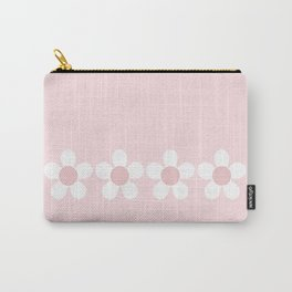 Spring Daisies In Pale Delicate Fresh Pink & White Carry-All Pouch