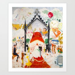 The Cathedrals of Fifth Avenue by Florine Stettheimer, 1931 Art Print
