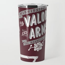 Mississippi Motto (Maroon) Travel Mug