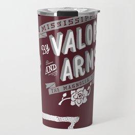 Mississippi Motto (Maroon) Travel Mug