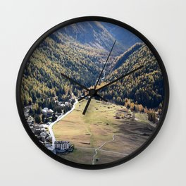 Beautiful autumn landscape in mountain Wall Clock
