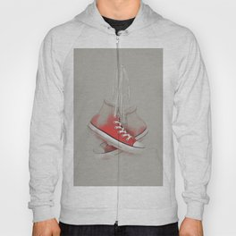 red sneakers Hoody