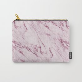 Mauve Pink Marble Carry-All Pouch